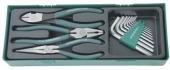 P018SP1 Комплект шарнирно-губцевого инструмента: бокорезы, пасса