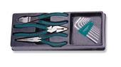 P018ST1 Комплект шарнирно-губцевого инструмента: бокорезы, пасса